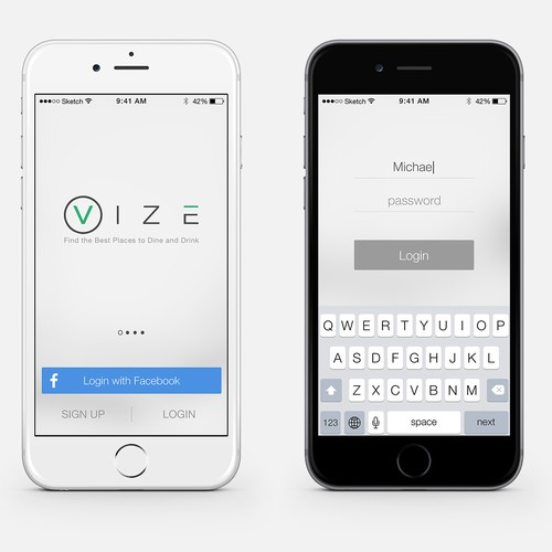 Chic, simple and stylish app design needed.