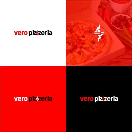 vero pizzeria logo design