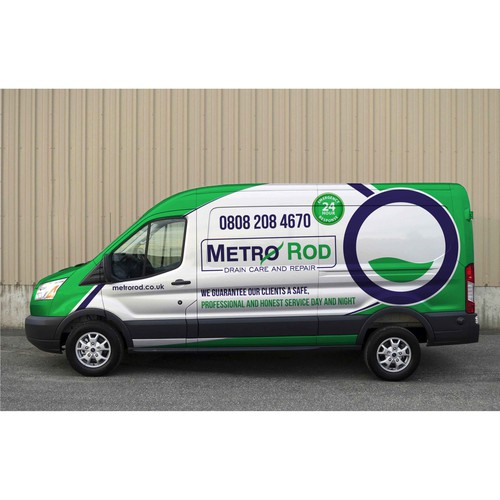 Van wrap for Metro Rod