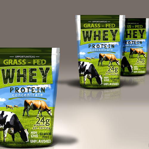 OPPORTUNITEAS - GRASS FED WHEY - label - packaging