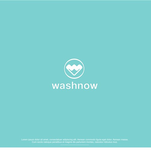 logo concept for Washnow