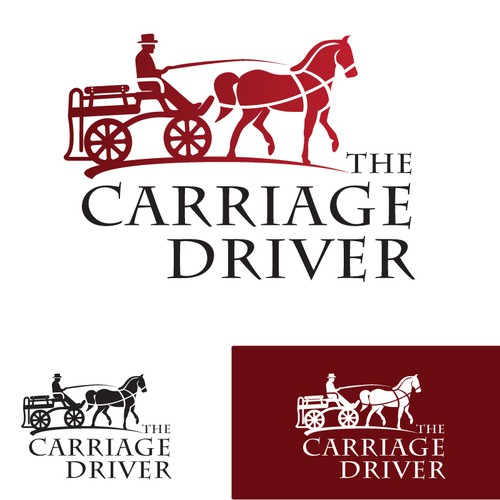 Playful logo and business cards for horse cart company