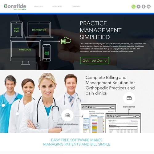 Website Design for Medical Team