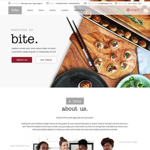 bite. homepage design.