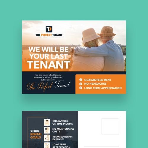 The Perfect Tenant- Postcard Design