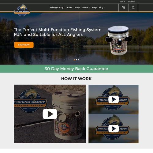Fisshing kit website design