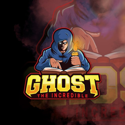 Ghost the incredible - Illustrative logo for a rapper and a story teller