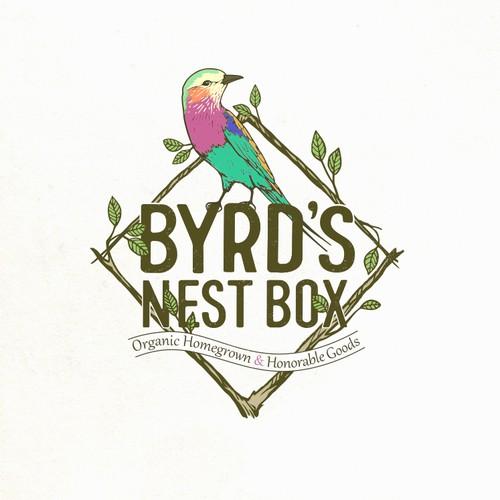bird logo for Byrd's nest box