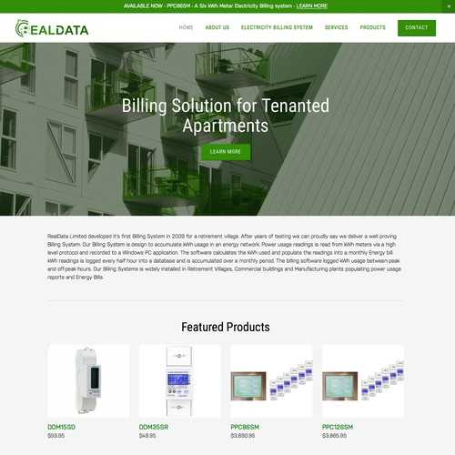 Squarespace E-Commerce Website for Technology Company