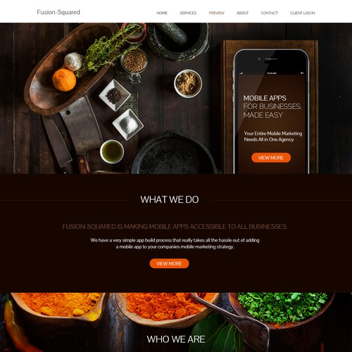 App food website