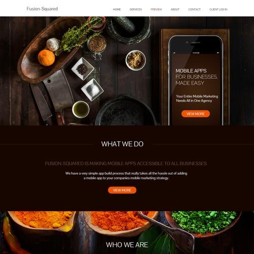 App food website