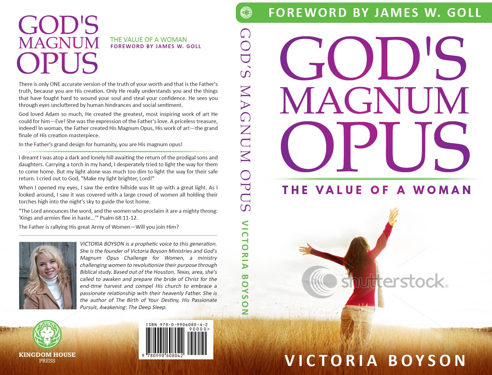 Need a striking, professional cover for book about the value of women! God's Magnum Opus