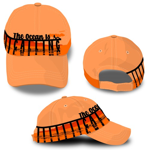 Simple but bold hat print