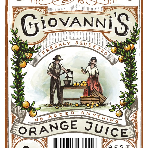 Orange Juice label