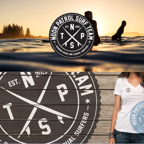 logo for NPST stands for noon patrol surf team