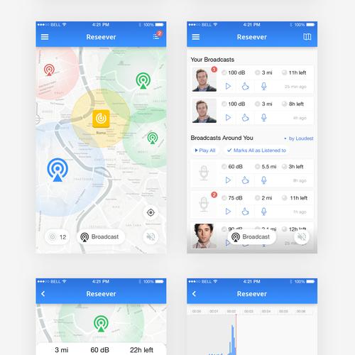 Location based audio signage app