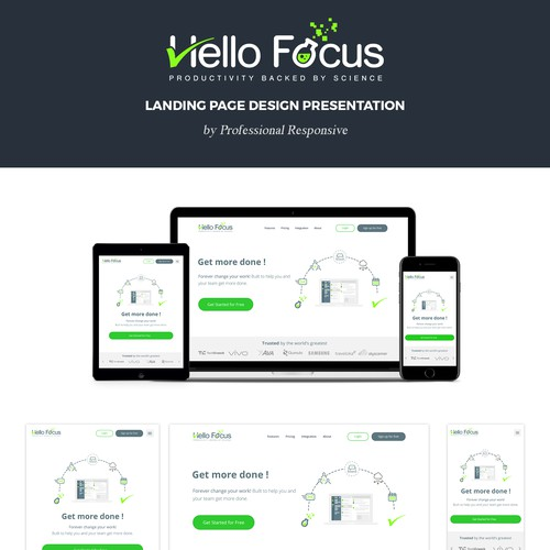 Hello Focus Landing Page