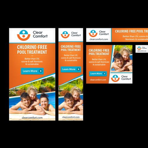 Banner ads for chlorine-free pool system