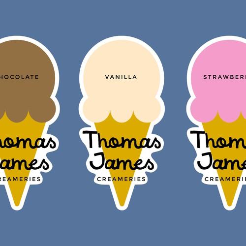 'Thomas James Creameries' logo