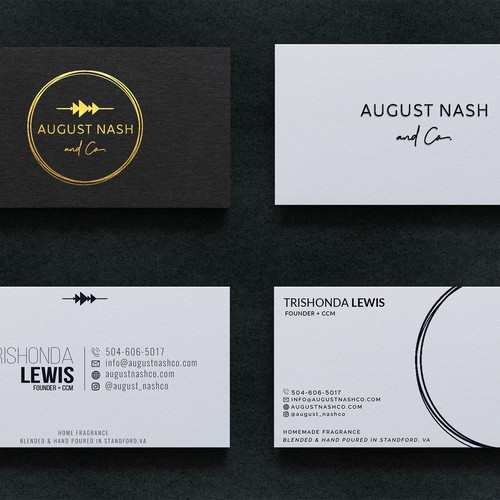 Business Card Design for August Nash