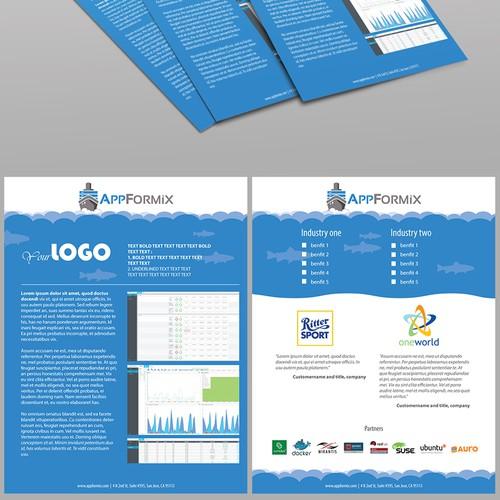 Flyer concept for tech start-up