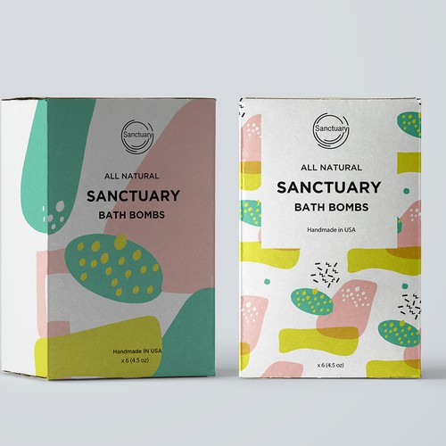 packaging design for bath bombs