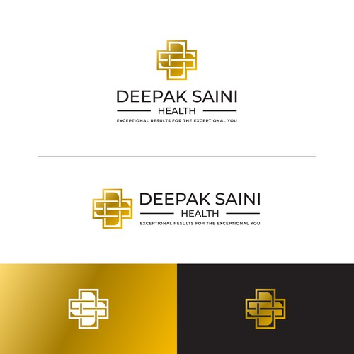 Bold and sleek logo for Deepak Saini healt consultion