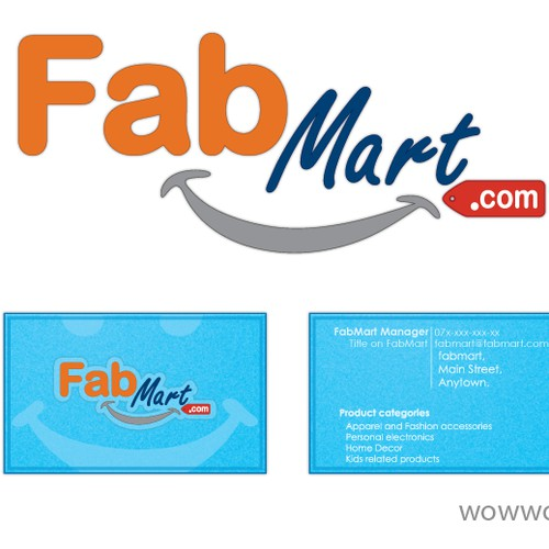 New logo and business card wanted for FabMart