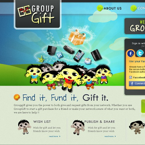 GroupGift Web Design
