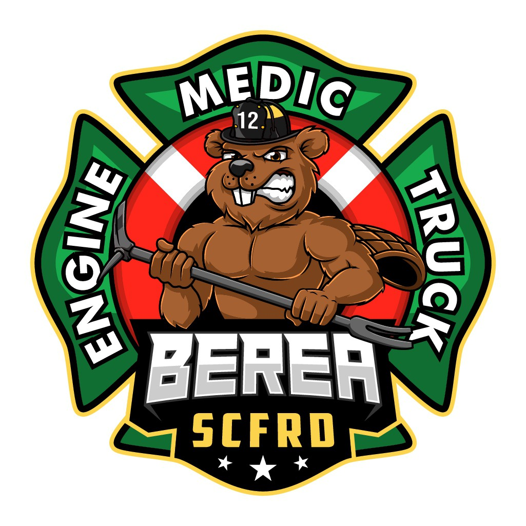 Creative logo that inspires pride and signals courage for busy Fire and Rescue Department.