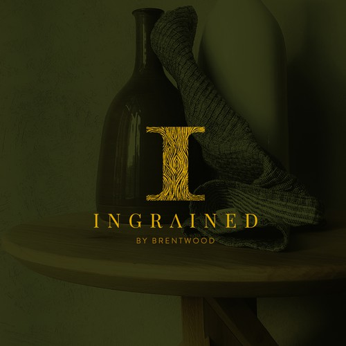 Logo for a talented craftsman who repurposed old wood into art-like furniture