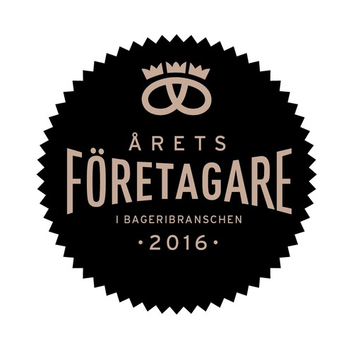 Logotype for Swedish Entrepreneur of the year, in the bakery business