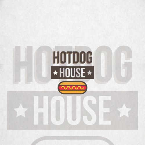 Logo concept for hotdog restaurant