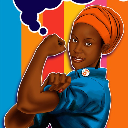 Rosie the Riveter Logo for Just Like My Child Foundation gala invitation