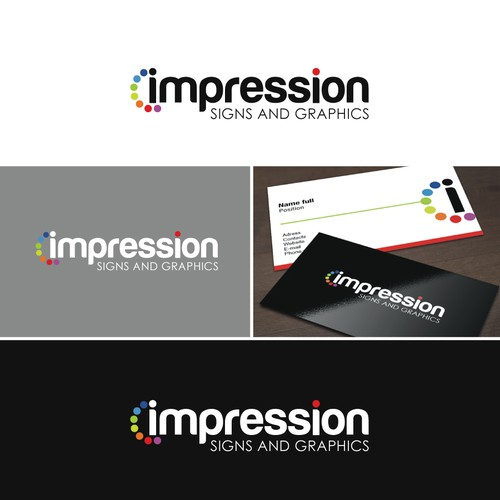 "logo for Impression Signs and Graphics   (with emphasis on ""Impression"")"
