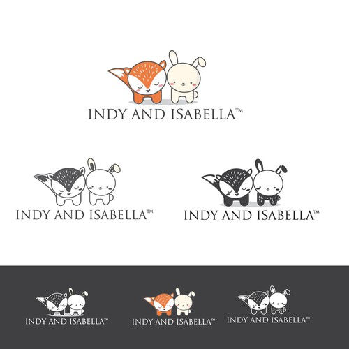 Adorable and cute logo for the baby products company