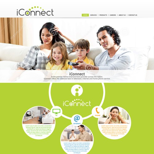 Create a modern, fun website for a new TV, Internet, and Phone Retailer!