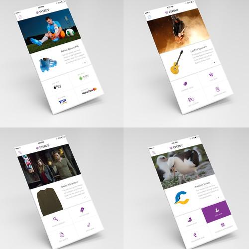 Mobile app design for eyebuy