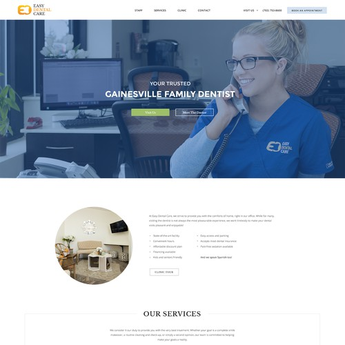 Webpage design for dental services