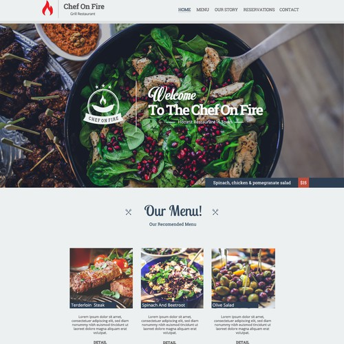 Restaurant Wordpress Design