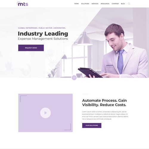 Web design concept for telecommunication services IT company