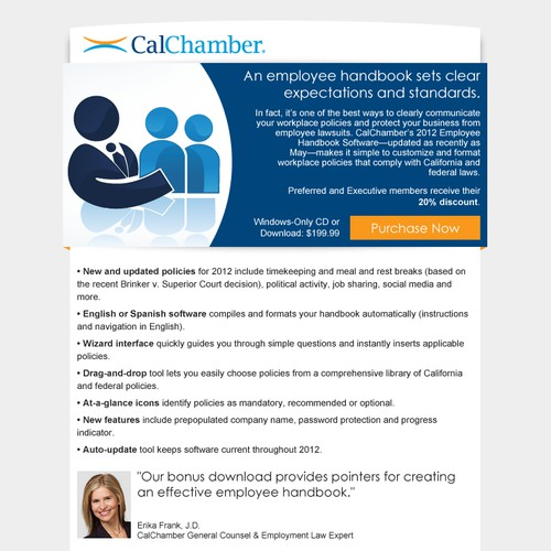 Email newsletter for CalChamber
