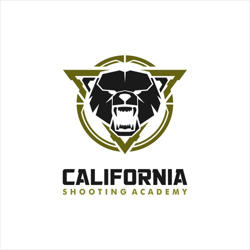 masculine logo for shooting academy