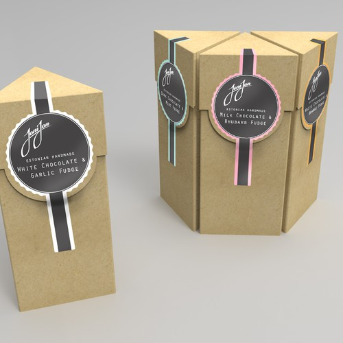 Redesign our handmade candy packaging