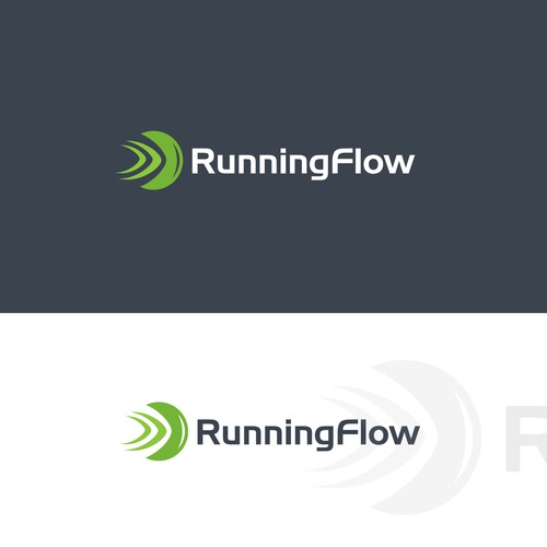 "Show off your empathy skills while creating the logo for our product""Running Flow"""