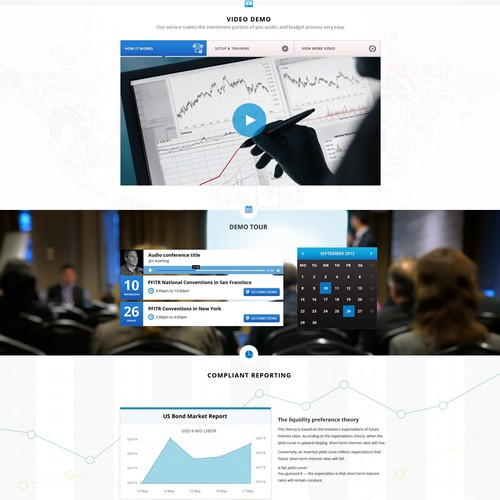 Investment Accounting Web Design for PFITR.