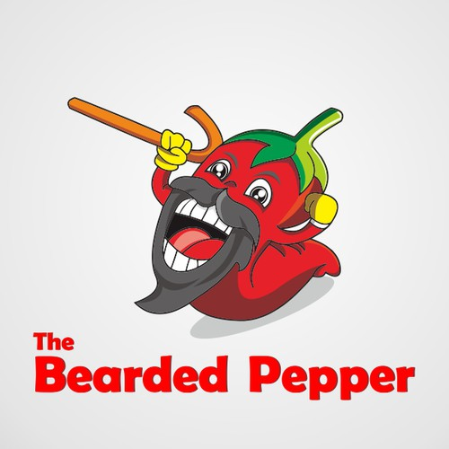 Create a happy illustration for The Bearded Pepper