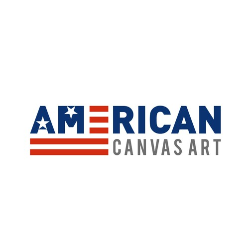 A Patriotic Themed Logo for Wall Art Site