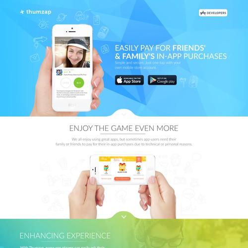 Redesign Thumzap website