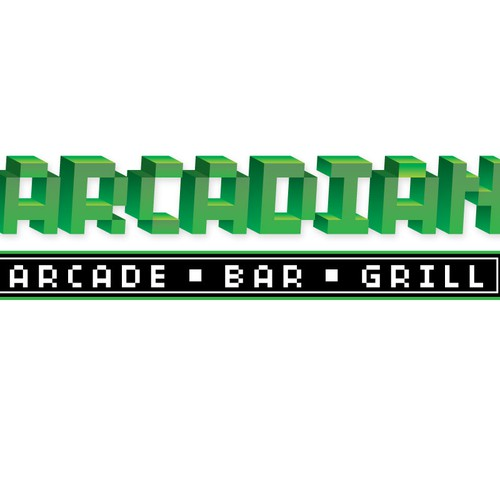 Logo for an arcade inspired bar.